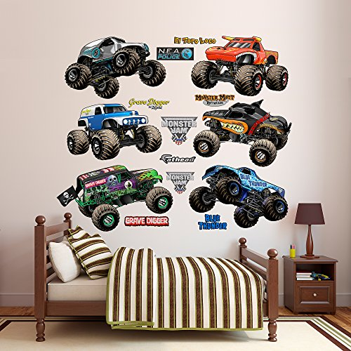 Fathead Monster Jam Cartoon Trucks Collection Real Decals by FATHEAD
