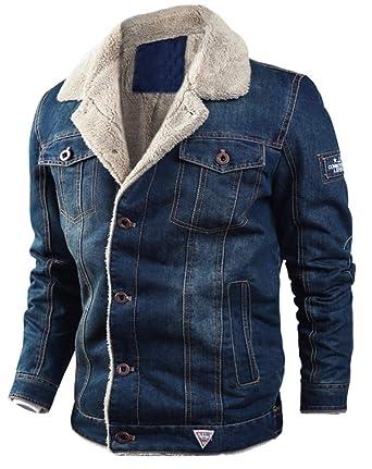 pretty nice 9a786 9e818 LCXYYY Herren Wintermantel Jeans Jacke Mäntel Denim ...