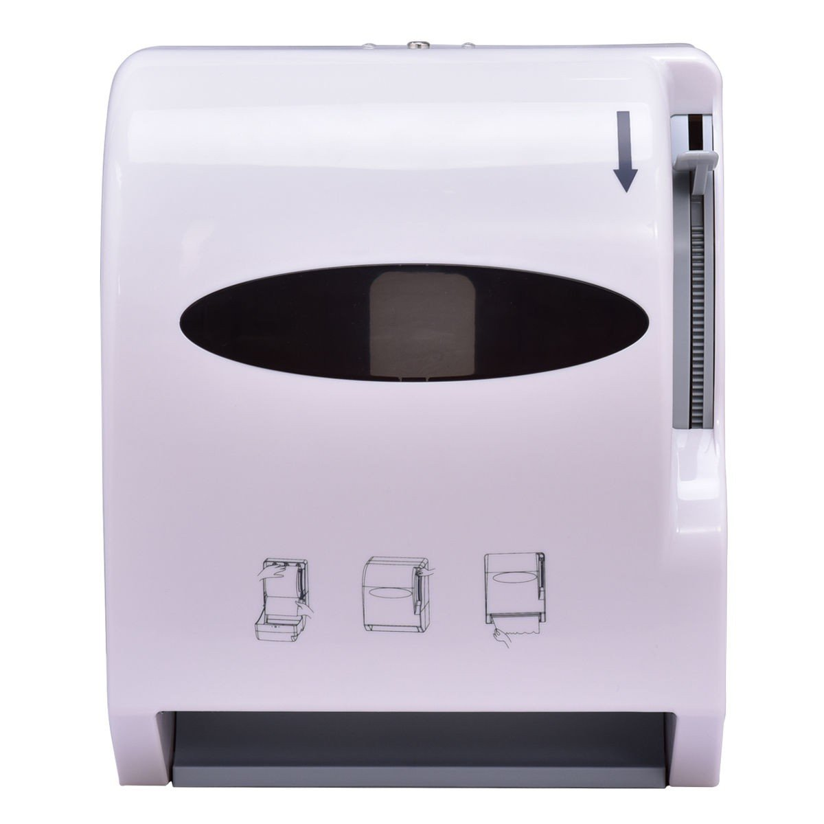 MyEasyShopping Durable Wall Mount Heavy Roll Paper Towel Dispenser Duty Commercial Bathroom Plastic White Black Tool Machine