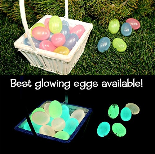 Light of Jesus [Glow in The Dark Easter Eggs] (12) - Give Your Kids an Amazing [Christian/ Religious] Easter Egg Hunt Game/ Toy - Make Easter Sunday -