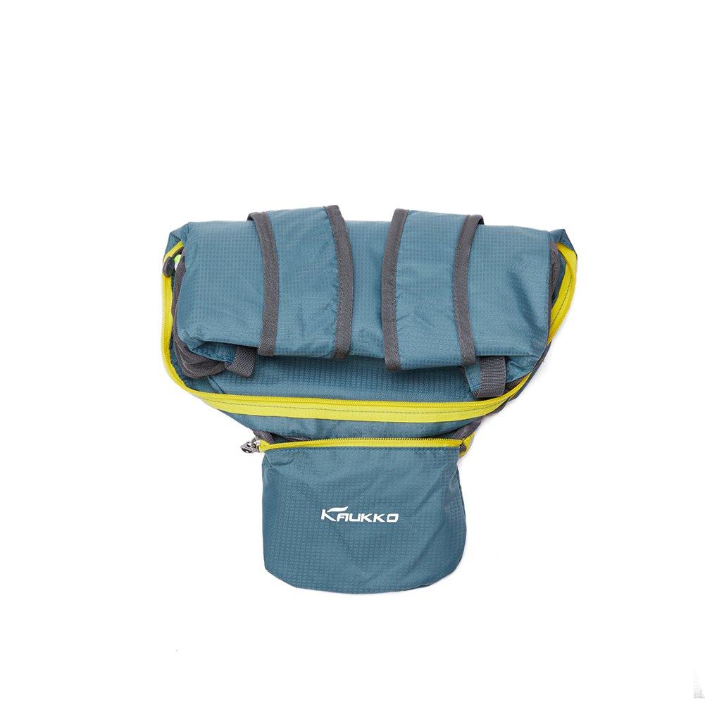 KAUKKO Laptop Outdoor Backpack, Travel Hiking& Camping Rucksack Pack, Casual Large College School Daypack, Shoulder Book Bags Back Fits 15'' Laptop & Tablets (01GREEN) by KAUKKO (Image #6)