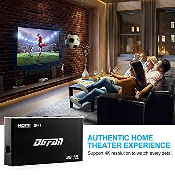 Hdmi Switch, Hdmi Switch Box-hdmi Switcher With Ir Wireless Remote & Ac Power Adapter-hdmi Hub For Tv, Projector Camcorders, Laptop, Monitor -Supports Hd 4k 1080p 3d (Hdmi Switch 5 Port) 5