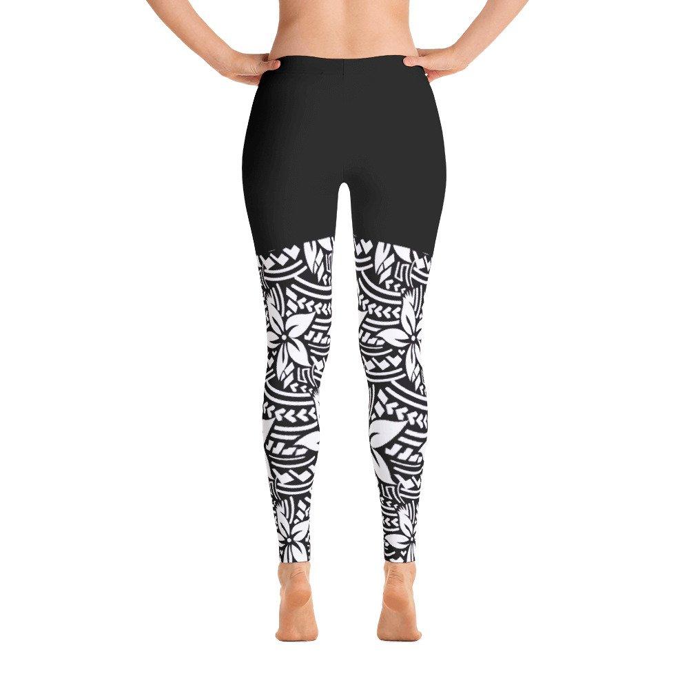 Live Lalelei Floral Print Two Tone Color Block Workout Yoga Athleisure Leggings