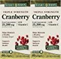 Natures Bounty Triple Strength Cranberry 25,200mg with Vitamin C, 60 Count