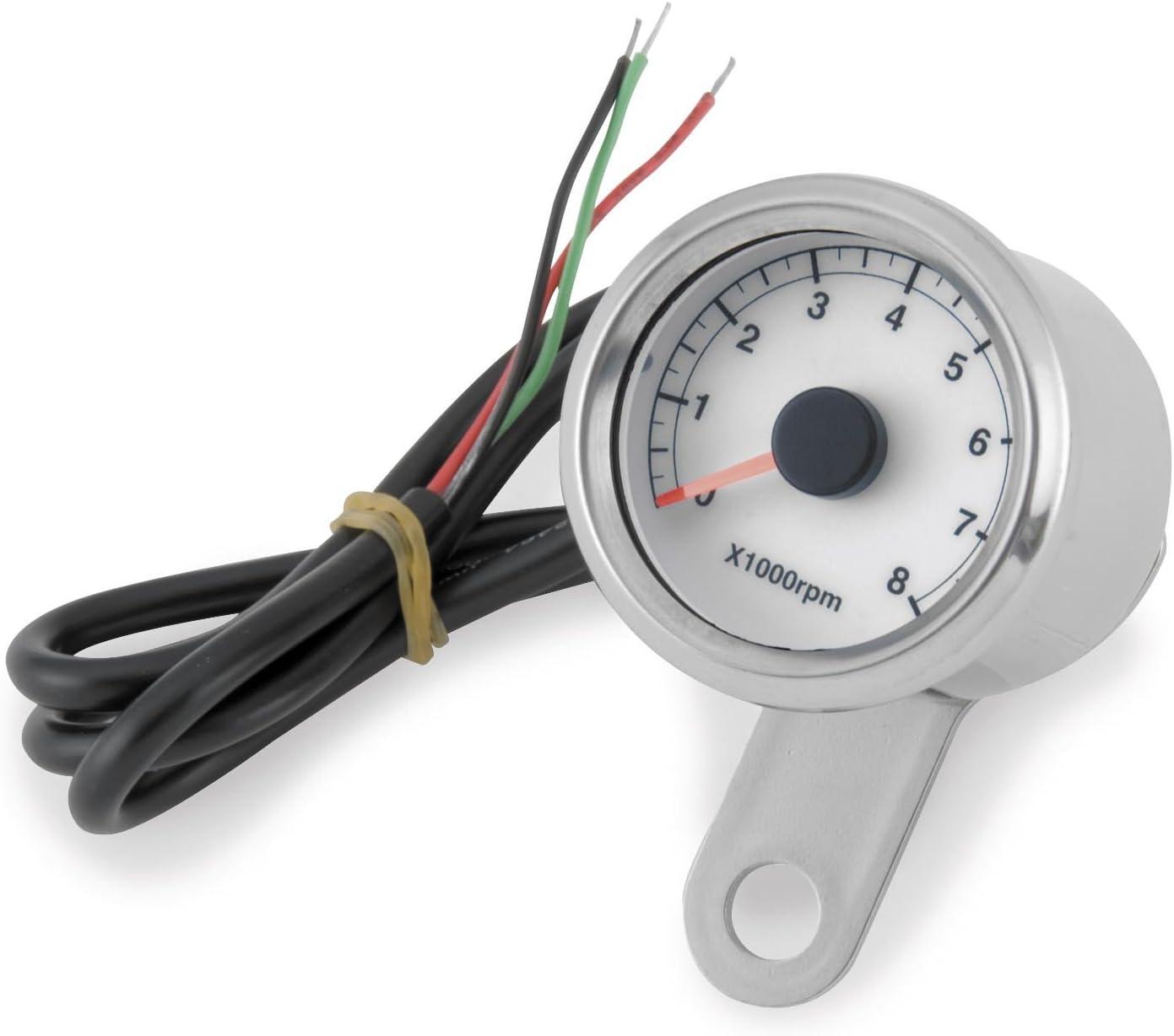 Bikers Choice Electronic L.E.D Mini Tachometer One Size
