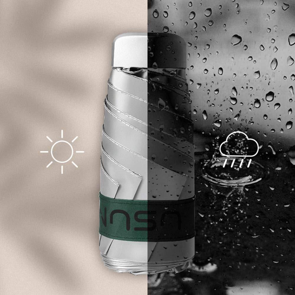 Parapluie De Poche /À Double Usage pour /Écran Solaire Ultra-l/éger avec Parasol De Poche Sun Sun UPV50 Plus Titanium Silver rebirthesame Parapluie Pliant De Protection Contre Le Soleil UPV50
