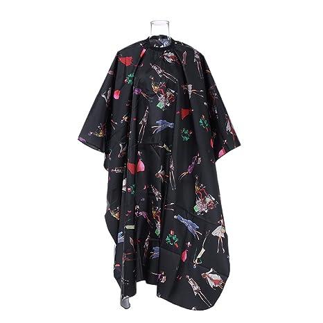 Anself Capa Vestido Diseño Impermeable para Peluquería
