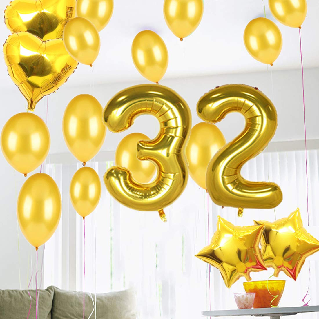 Amazon.com: Suministros para fiestas de cumpleaños de 32 ...