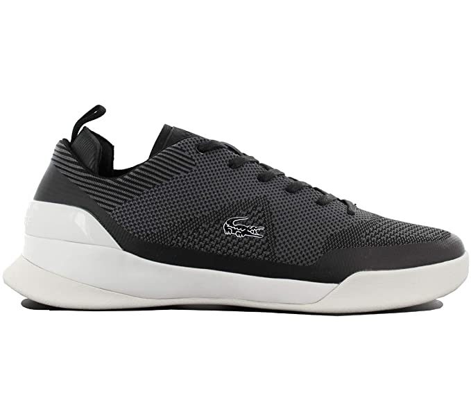 Lacoste Mens LT Dual Elite 317 1 SPM Trainers, Black, ...