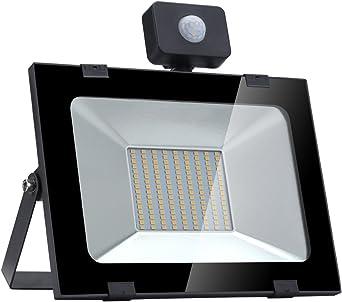 HENGMEI 100W LED Strahler mit bewegungsmelder Au/ßen Fluter Flutlicht Wasserdicht IP65 Au/ßenstrahler Scheiwerfer f/ür Garage 100W Warmwei/ß Garten und Vorplatz