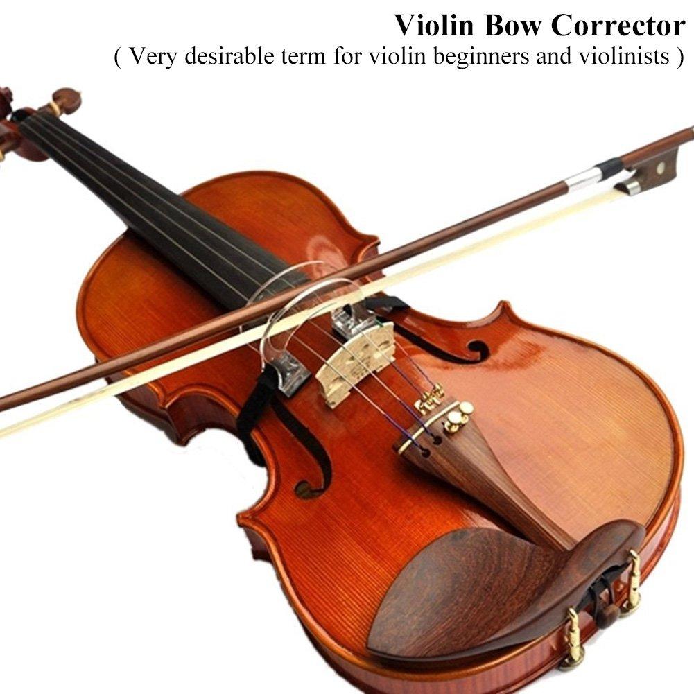 2PCS Violin Bow Straightening Guide Tool Collimator Adjuster Corrector for Beginner Training 1//2-4//4 Violins