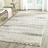Safavieh Retro Collection RET2136-1180 Modern Abstract Cream and Grey Area Rug (8′ x 10′) For Sale
