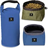 Collapsible Dog Bowl, Awakelion Foldable Travel Pet Bowl For Food And Water