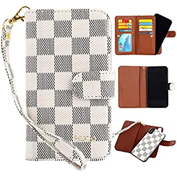 555ab37d34e iPhone Xs Max Case,GX-LV iPhone Xs Max [Card Holder] [Wrist Strap] Leather  Wallet Folio Case Flip Cove Purse with [9 Card Slot] [Magnetic Detachable  ...