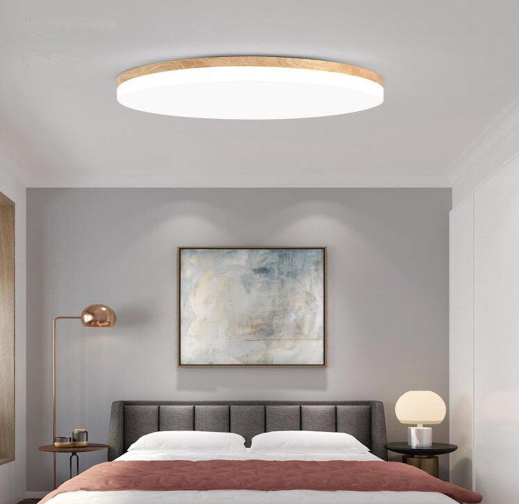 Lozse LED Deckenleuchte wei/ß 36W Holz Deckenleuchten f/ür K/üchen Wohnzimmer Hotel Badezimmer Korridor Gr/ö/ße:48cm//18 in