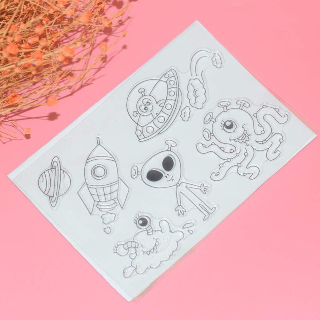 linda20y Album de Scrapbooking en Silicone Transparent pour Fille