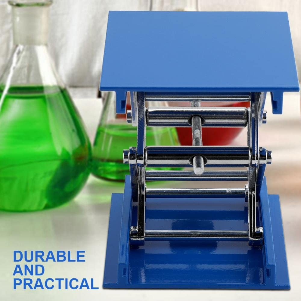 Chemical Biological Experiments,100 x 100 x 40mm Lift Tables,Lab Stand Table,Adjustable Lift Laboratory Scissor Jack Lifter,Aluminum Oxide Lab Lifting Platform,for Physical