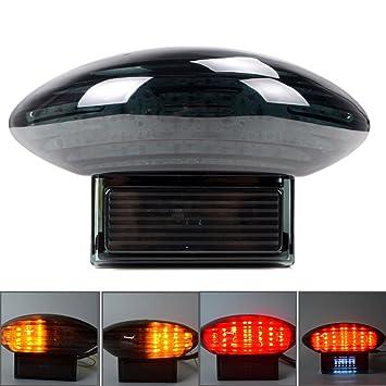 Astra Depot Smoke Integrated LED ke Tail Light Turn Signal For 1999-2007 on