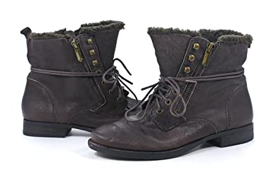 4ff2cf12bb732 Image Unavailable. Image not available for. Color  Sam Edelman Mackay Ebno  Brown Nubuck Leather Fur Boots ...