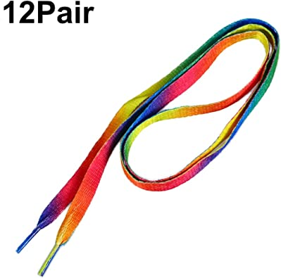 LUOEM 12 Pairs Rainbow Shoelaces