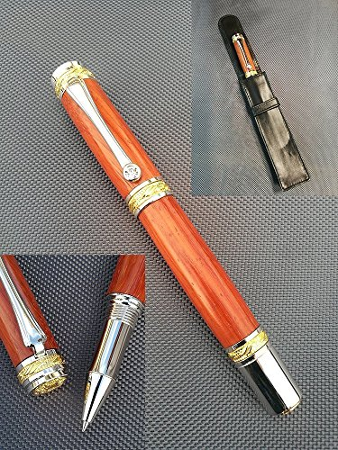 Exceptional ballpoint pen in pink ivory wood, exceptional gift, esthete, collectors, man, woman, birthday gift, retirement, valentine, wedding, christmas, father's day, mother's day, rulers. by STYL'AU'BOIS