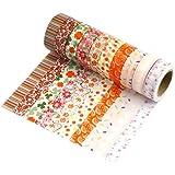 Très Chic Mailanda Set di 10 nastri decorativi Washi, adesivi