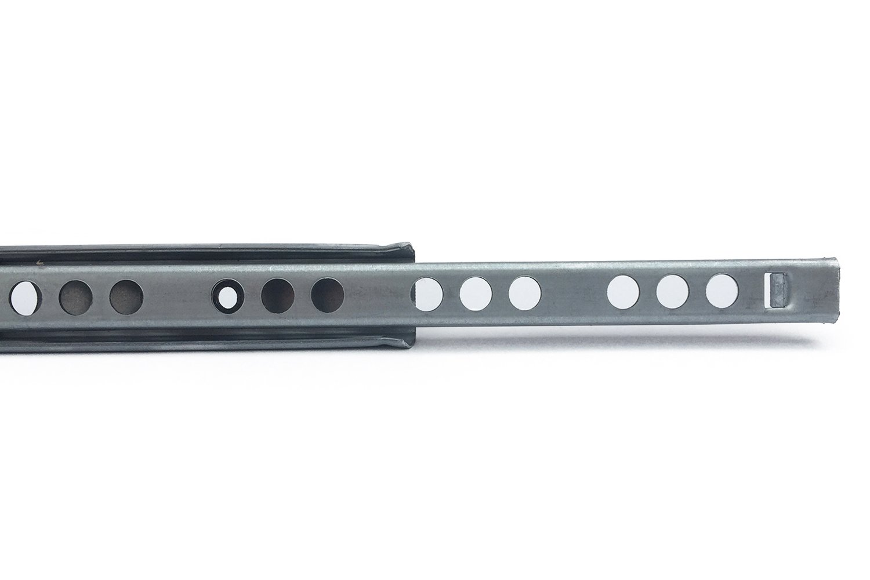 2 X Mprofi MT® (1 pair) rails de tiroirs à coulisse H: 17/L: 310 mm – en acier galvanisé – coulisse à sortie partielle