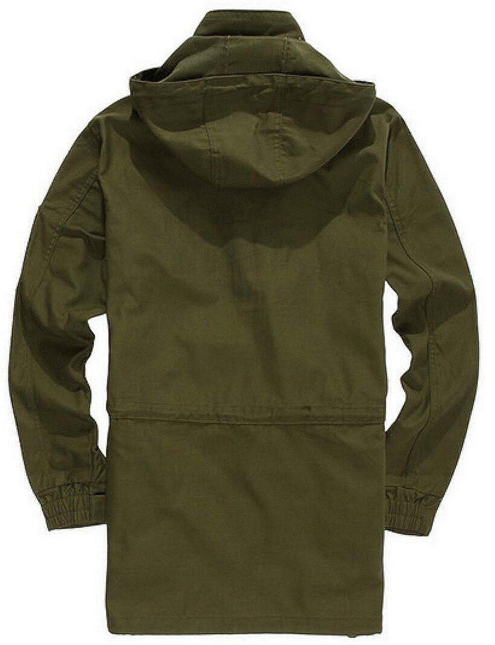 Coton À Parka Dhiver Capuche Veste Style Long Homme Militaire Jiinn wq61HH