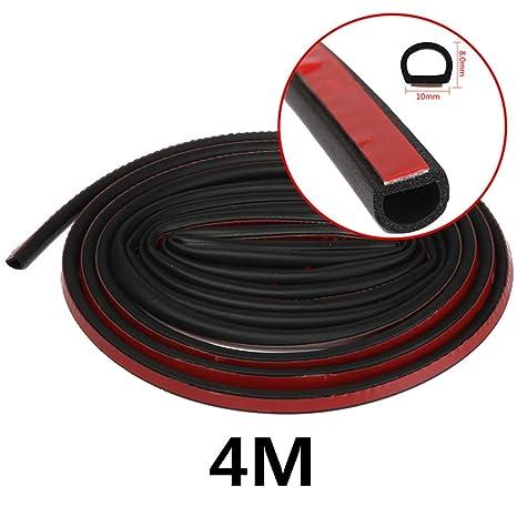 1M//4M//5M D-shape Car Truck Motor Door Rubber Seal Strip Weatherstrip Sealing