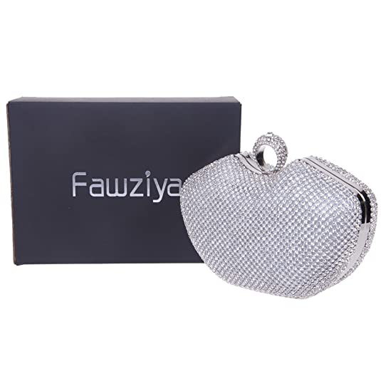 Amazon.com: fawziya Apple Shape Anillo Embrague cartera ...