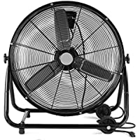 XtremepowerUS 24 Inch Heavy Duty Rolling Velocity Drum Floor Fan