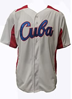 PLAY OFF Cuban Baseball White Jersey