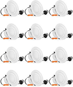 12-Pack Shine Hai 65W LED Recessed Lighting