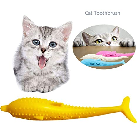 Cepillo de Dientes de Gato con Forma de Pez de Silicona,Juguete de ...