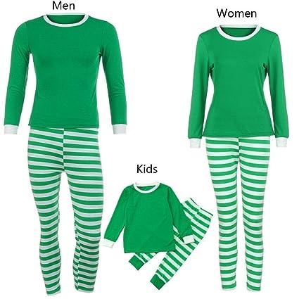 coohole family boy girl women men striped topssanta pants christmas outfits clothes set