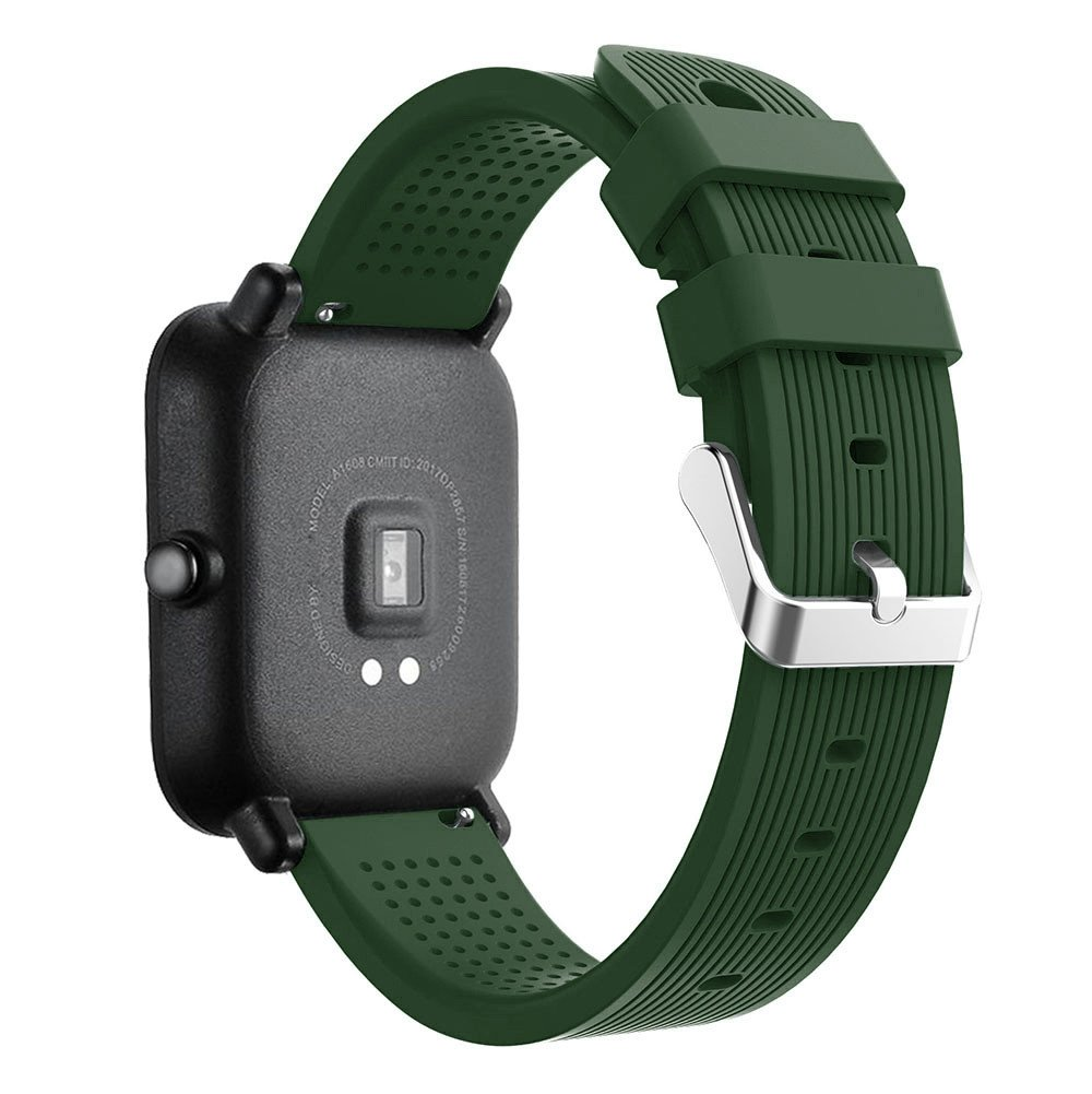 iumei for Huami Amazfit Bip Watch Band, Sport Replacement Soft Silicone Strap Bracelet Bands Wirstband for Huami Amazfit Bip Watch (Army Green)