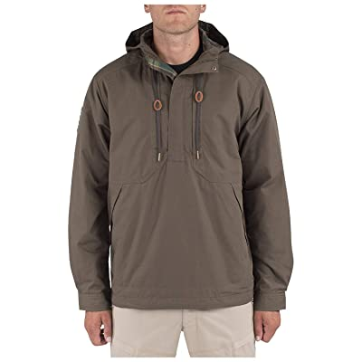 5.11 Tactical Men's Taclite Anorak Jacket, 100% Cotton Twill, Breathable Interior, Style 78012: Clothing