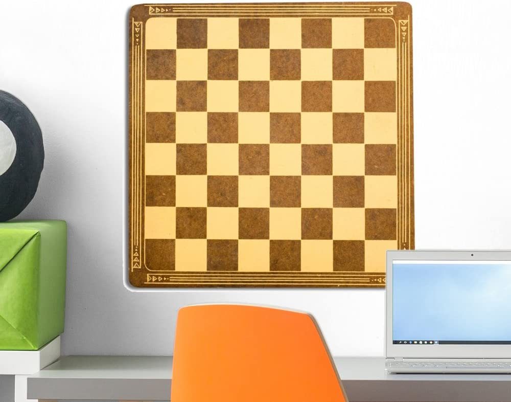Wallmonkeys Antique Checkerboard Wall Decal Peel and Stick Graphic (18 in H x 18 in W) WM224204