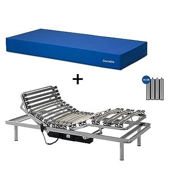 Gerialife® Pack Cama articulada con colchón Sanitario viscoelástico Impermeable (90x190): Amazon.es: Hogar