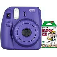 Câmera instantânea Fujifilm Instax Mini 8 - Uva + Pack 10 fotos
