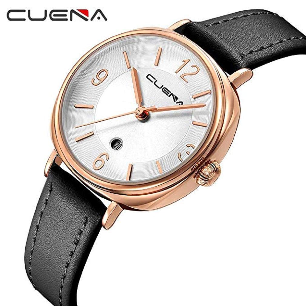 Scpink Relojes de Cuero para Mujeres, Liquidación Relojes análogos Simples para Dama Relojes Femeninos a la Venta Relojes para Mujer, Estuche de dial ...