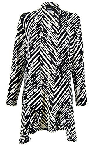Jostar Women's Ay Milano Jacket Long Sleeve Print Small Black Abstract