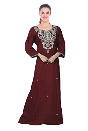 The Orange Tags Ladies 100% Cotton Long Full Sleeves Nighty Chemise  Embroidery Detailed Size 10-22 -Deep Red-XL (18-22)  Amazon.co.uk  Clothing 9d809b53d