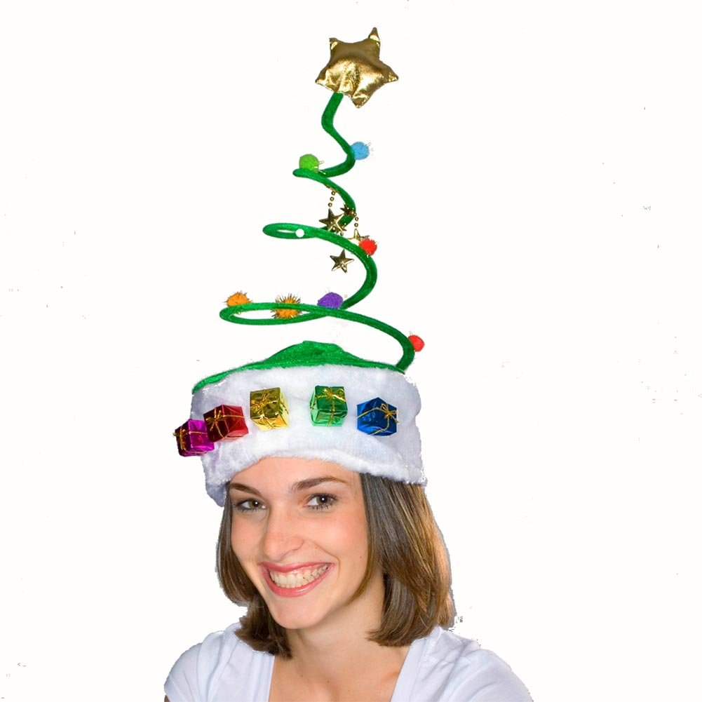 Christmas Tree Coil Spring Hat