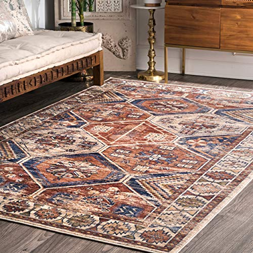 nuLOOM Temptation Tribal Area Rug, 5 x 8 , Rust