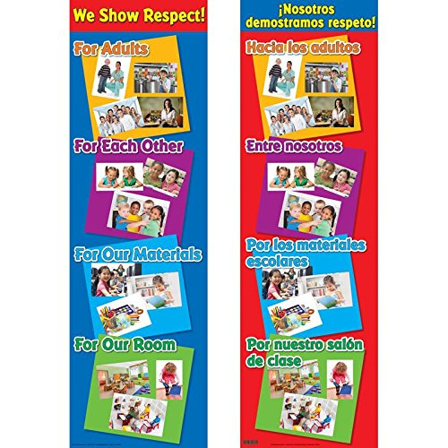 Really Good Stuff We Show Respect Two-Sided Banner English-Spanish by Really Good Stuff (Image #1)