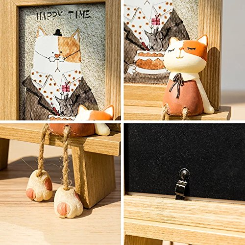 DecentGadget 4X6 Wooden Animal Picture Frame With Artificial Cat (Boy) by DecentGadget (Image #5)