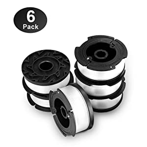 """Eventronic Line String Trimmer Replacement Spool, 30ft 0.065"""" Autofeed Replacement Spools for BLACK+DECKER String Trimmers, 6 Pack"""