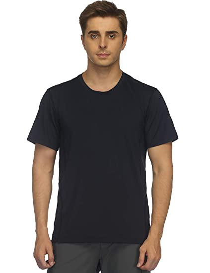 MIER Men s Quick Dry Athletic T-Shirt Performance Short Sleeve Shirts for  Running 21aa02c6d5e
