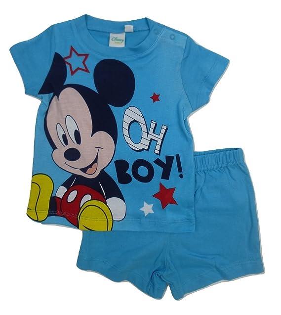Mickey Mouse - Pijama Entero - para bebé niño Azul 9 Mes: Amazon.es: Ropa y accesorios